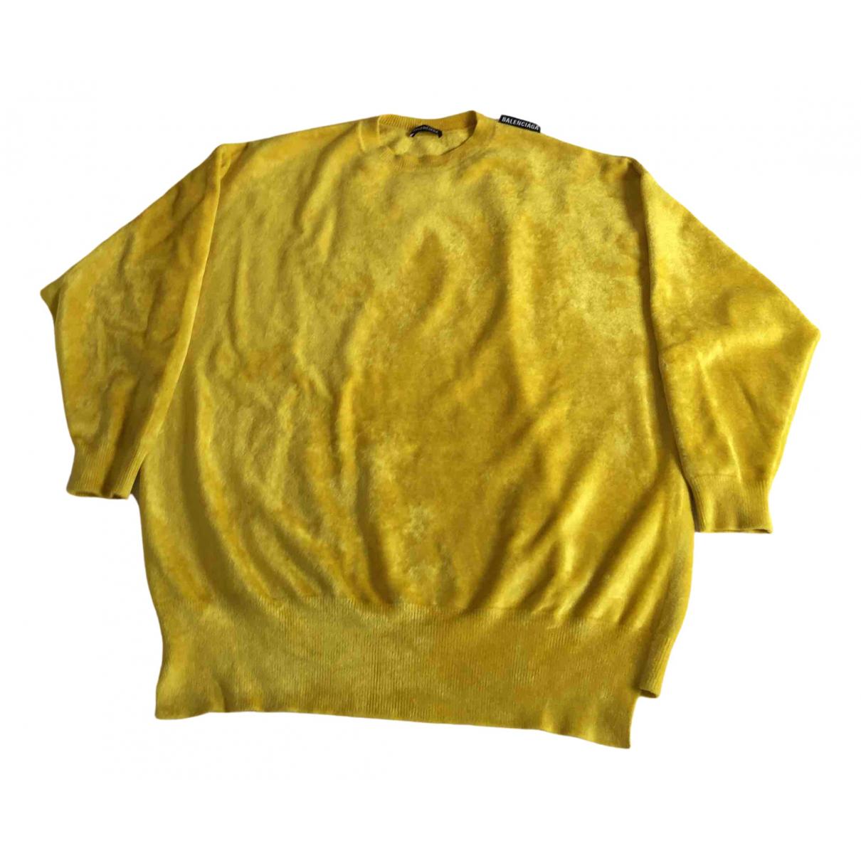 Balenciaga \N Pullover.Westen.Sweatshirts  in  Gelb Viskose