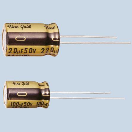 Nichicon 100nF Electrolytic Capacitor 100V dc, Through Hole - UFG2A0R1MDM (5)
