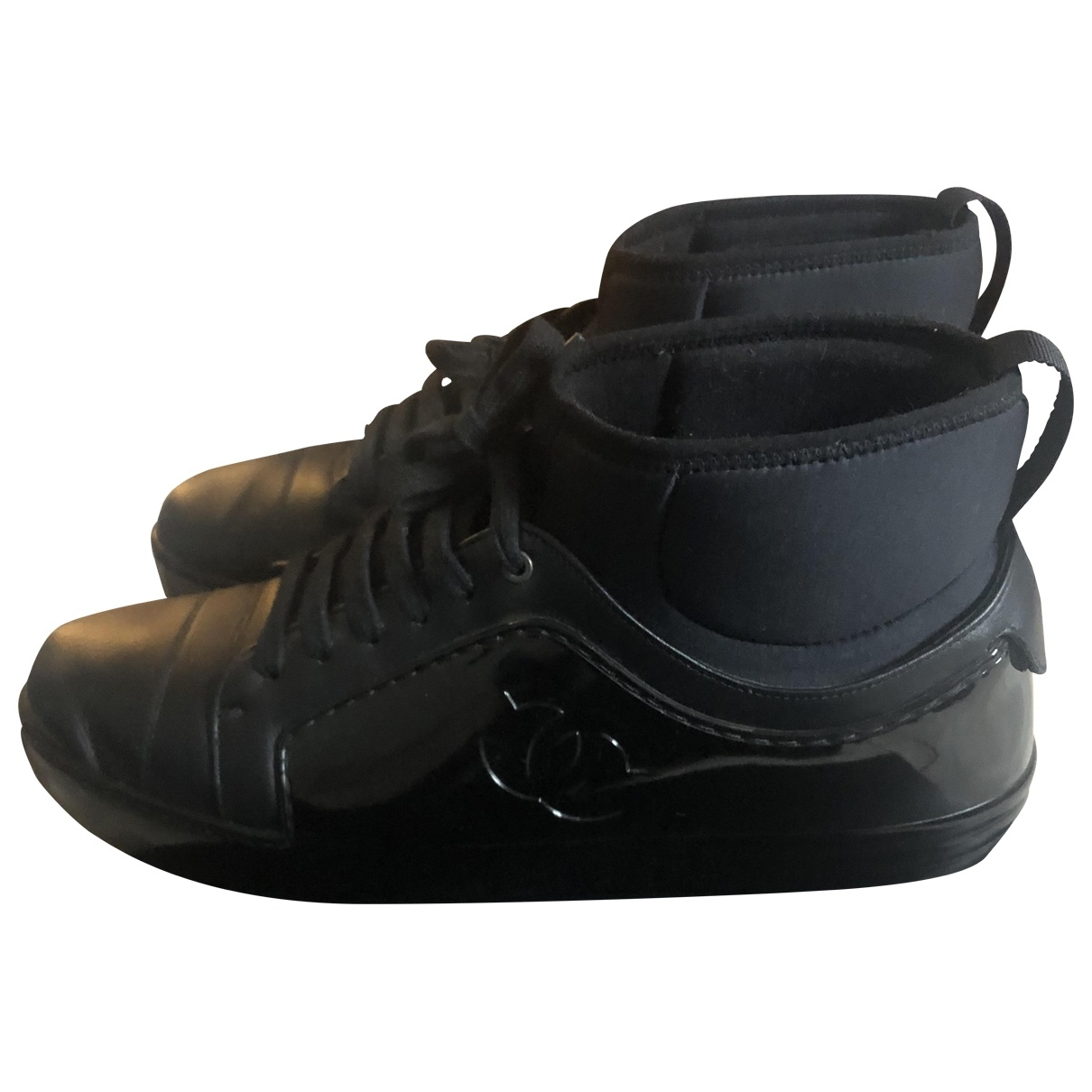Chanel \N Black Leather Trainers for Women 41.5 EU