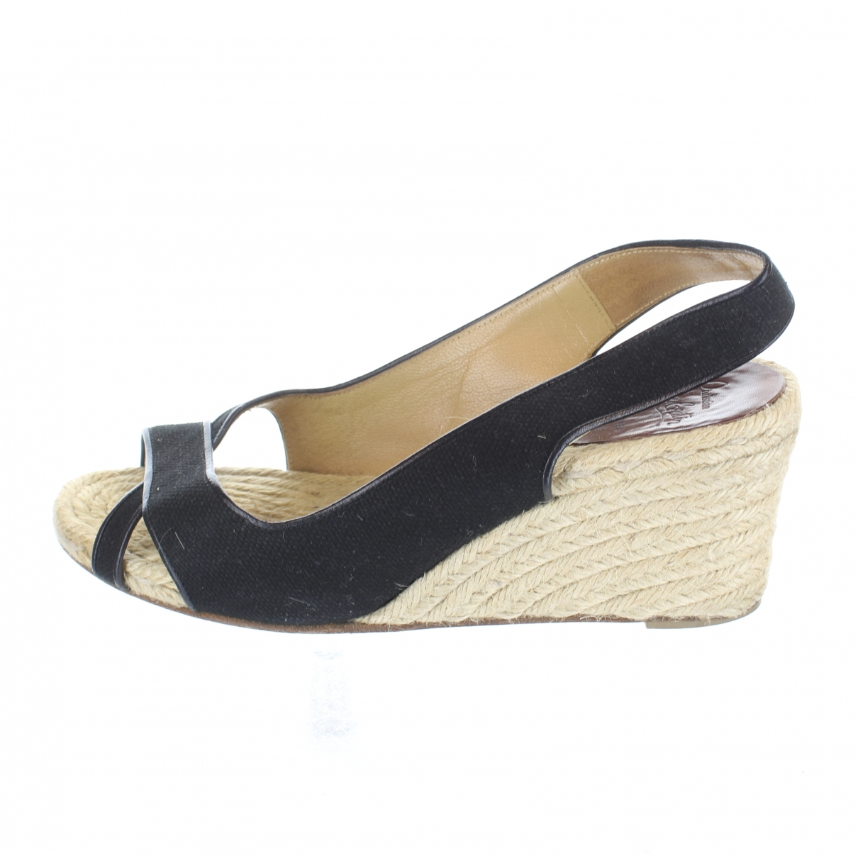 Christian Louboutin \N Black Suede Sandals for Women 39 EU