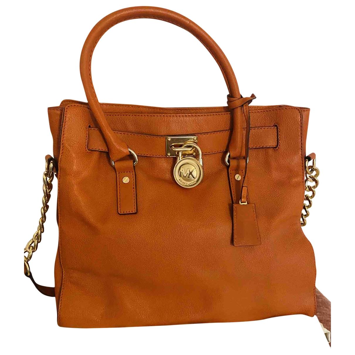 Michael Kors Hamilton Orange Leather handbag for Women \N