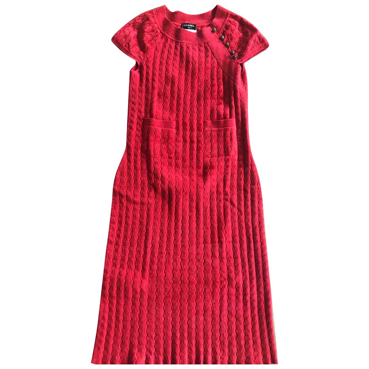 Chanel \N Kleid in  Rot Viskose