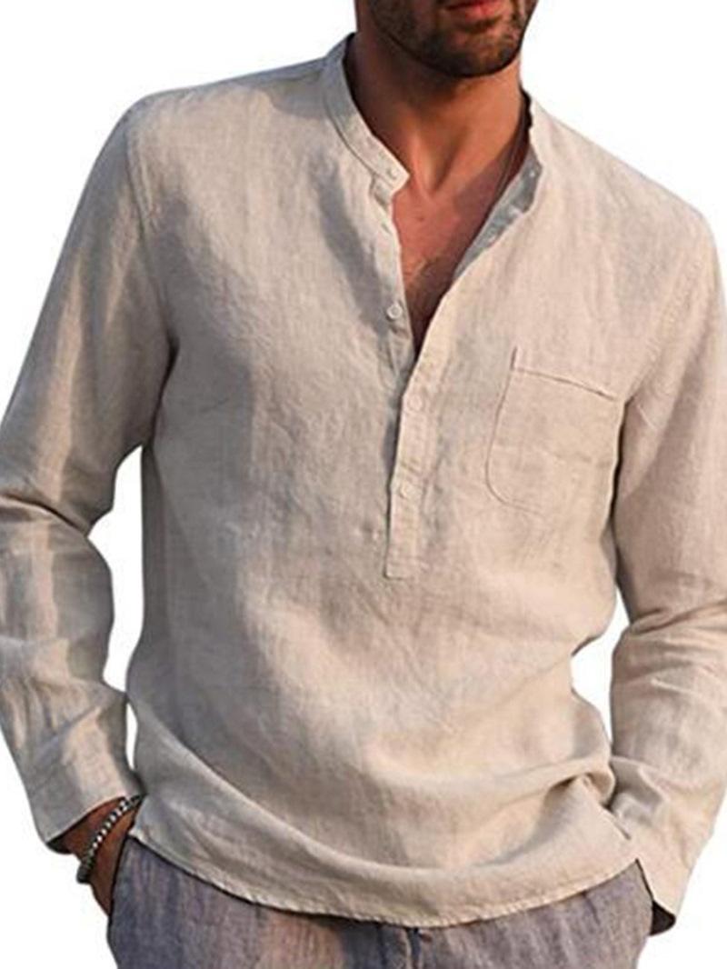 Ericdress Plain England Stand Collar Loose Fall Shirt
