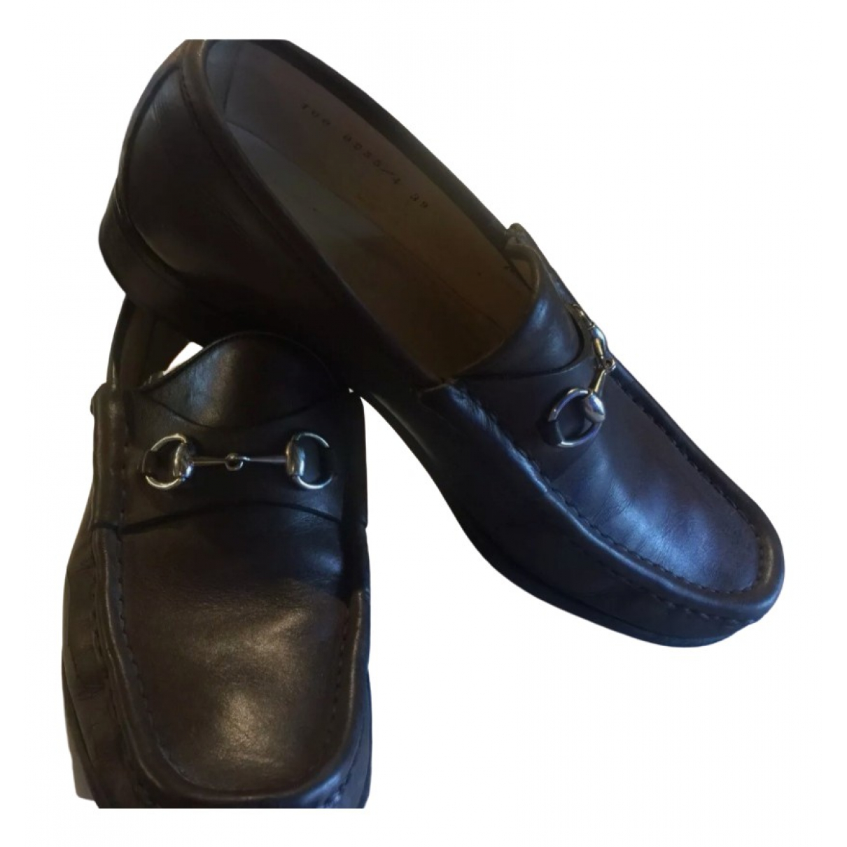 Gucci \N Brown Leather Flats for Women 6 UK