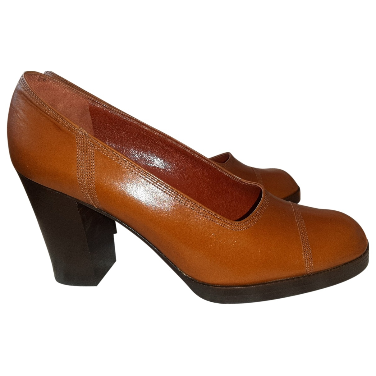 Yves Saint Laurent - Escarpins   pour femme en cuir - marron