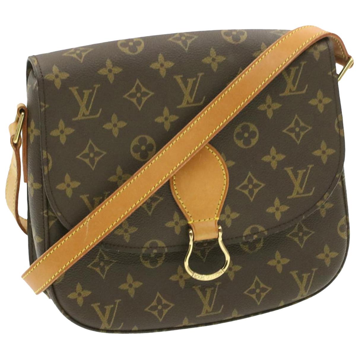 Louis Vuitton Saint Cloud Handtasche in  Braun Leinen