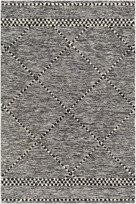 Zanafi Tassels ZTS-2307 8 x 10 Rectangle Global Rugs in Black