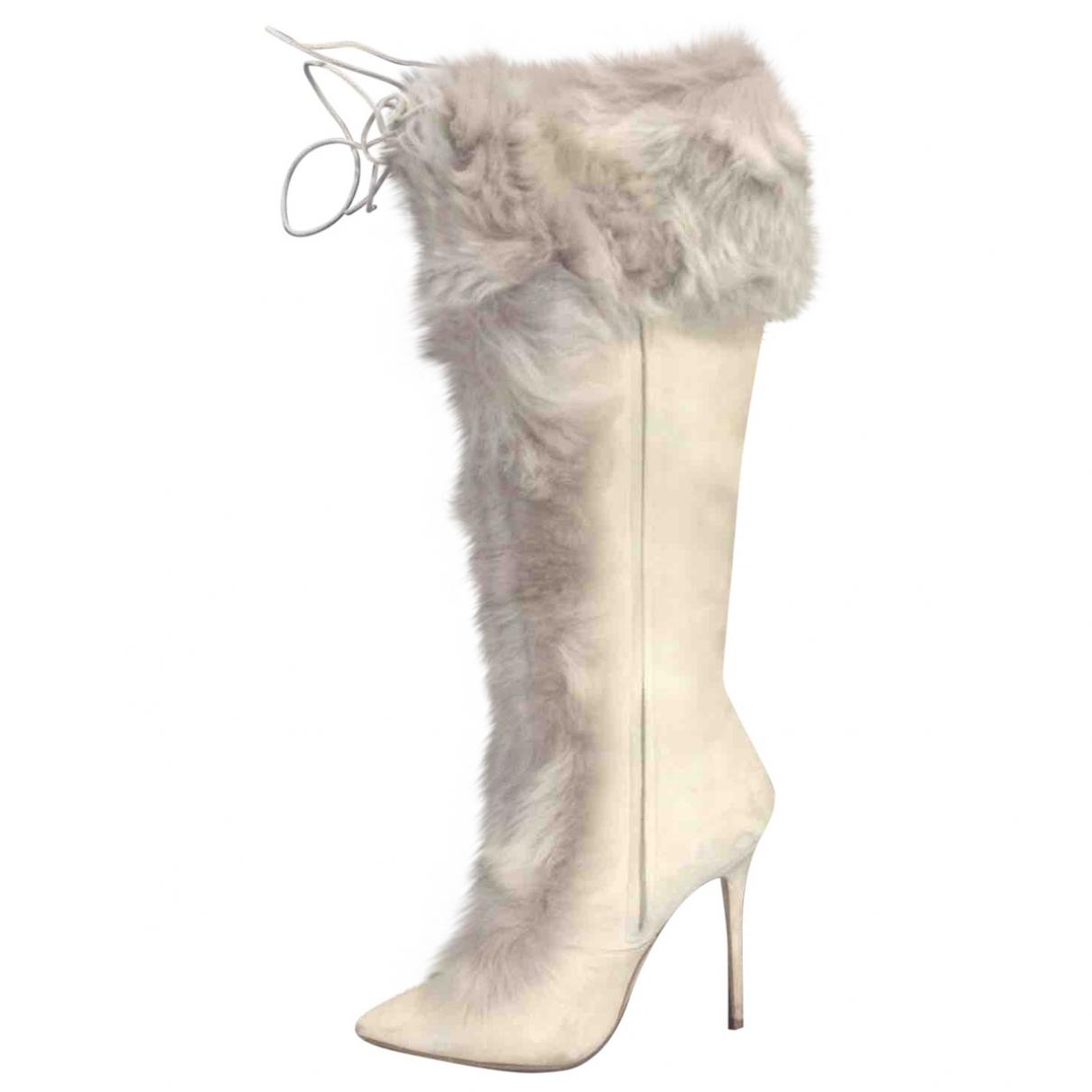 Manolo Blahnik \N Beige Suede Boots for Women 39 EU