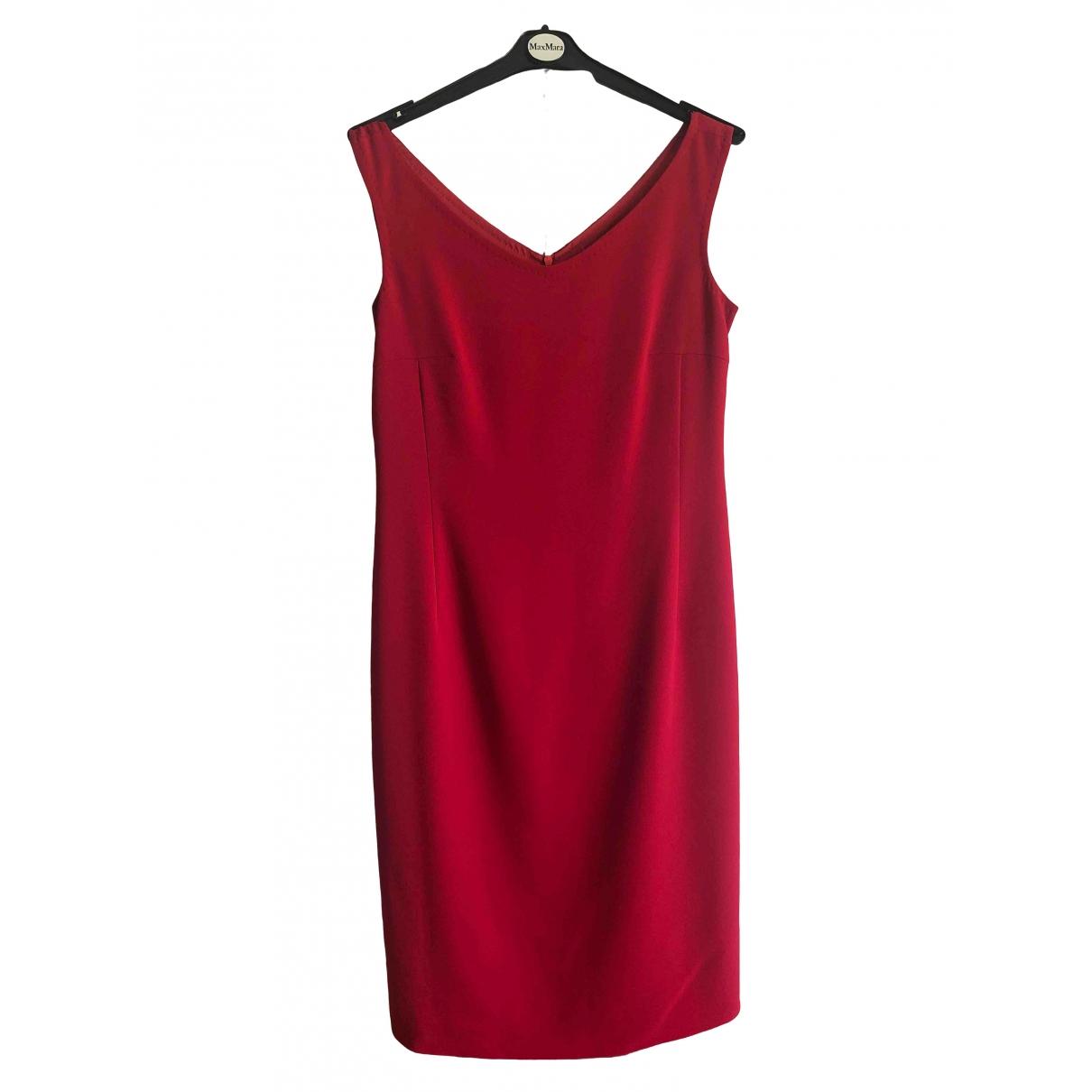 Max Mara \N Kleid in  Rot Synthetik
