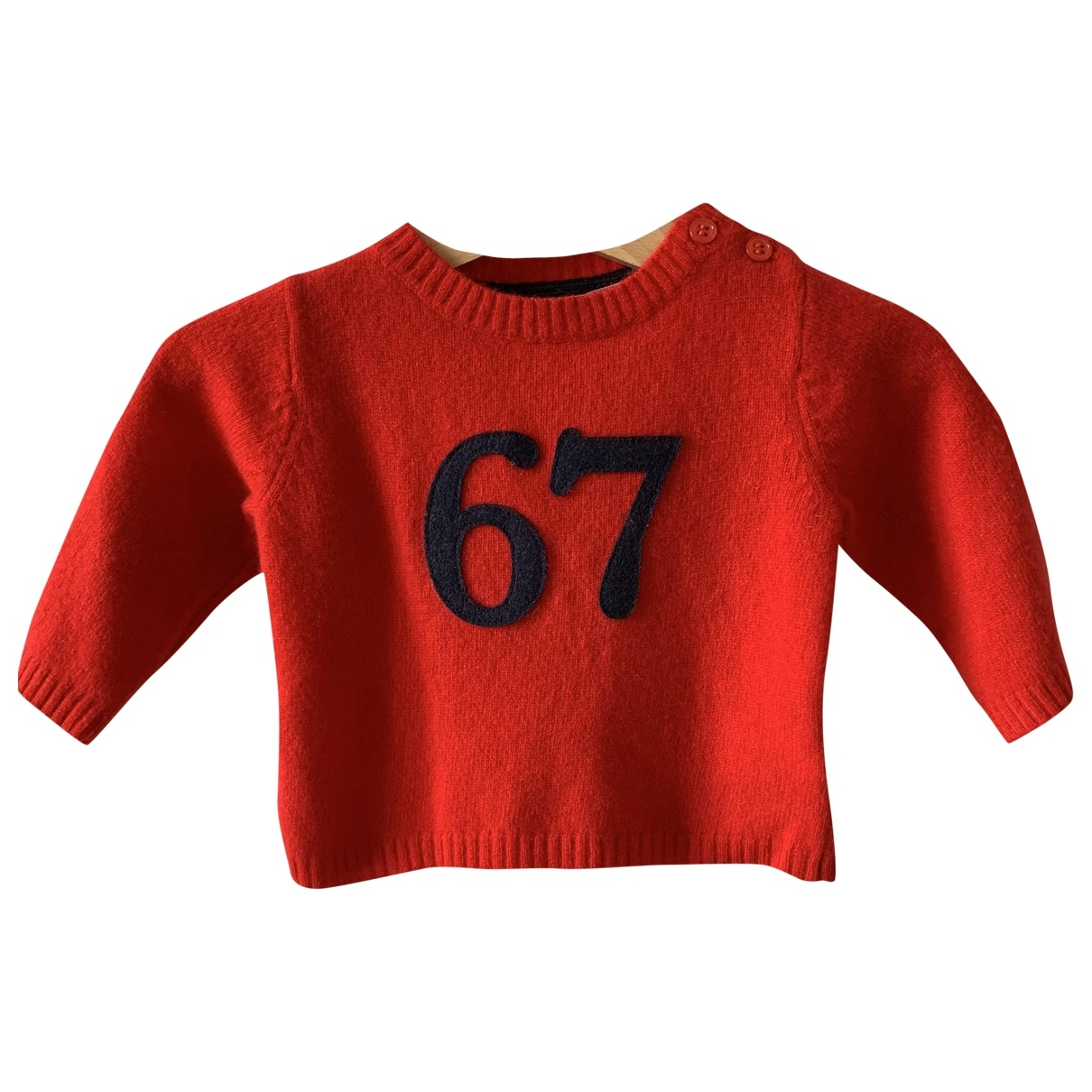 Bonpoint \N Red Wool Knitwear for Kids 6 months - up to 67cm FR