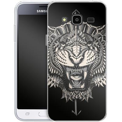 Samsung Galaxy J3 (2016) Silikon Handyhuelle - Eye Of The Tiger von BIOWORKZ