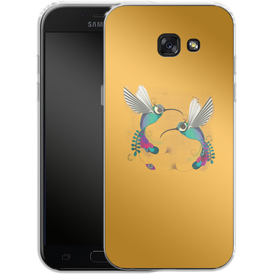 Samsung Galaxy A5 (2017) Silikon Handyhuelle - Hummingbirds von Victoria Topping