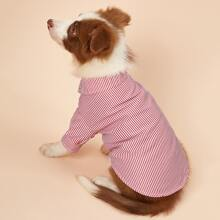 1 Stueck Hemd mit Nadelstreifen Muster fuer Hunde