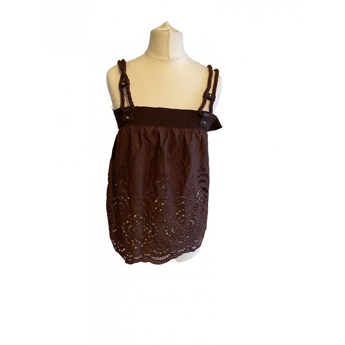 Gucci - Top   pour femme en coton - marron