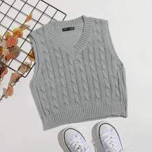 Cable Knit Sweater Vest