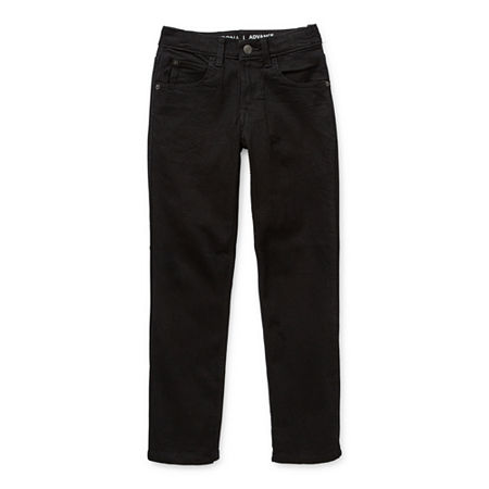 Arizona Flex Little & Big Boys Stretch Straight Leg Jean, 6 Slim , Black