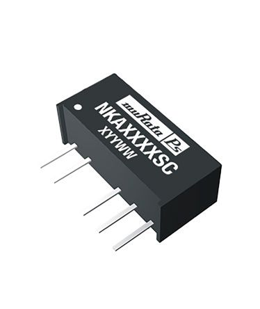 Murata Power Solutions NKA 1W Isolated DC-DC Converter Through Hole, Voltage in 4.5 ? 5.5 V dc, Voltage out �12V