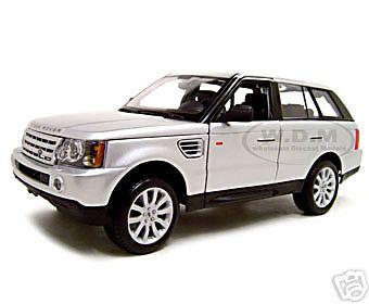 Range Rover Sport  Silver 1/18 Diecast  Model Car by Maisto