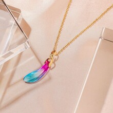 Ombre Geometric Charm Necklace