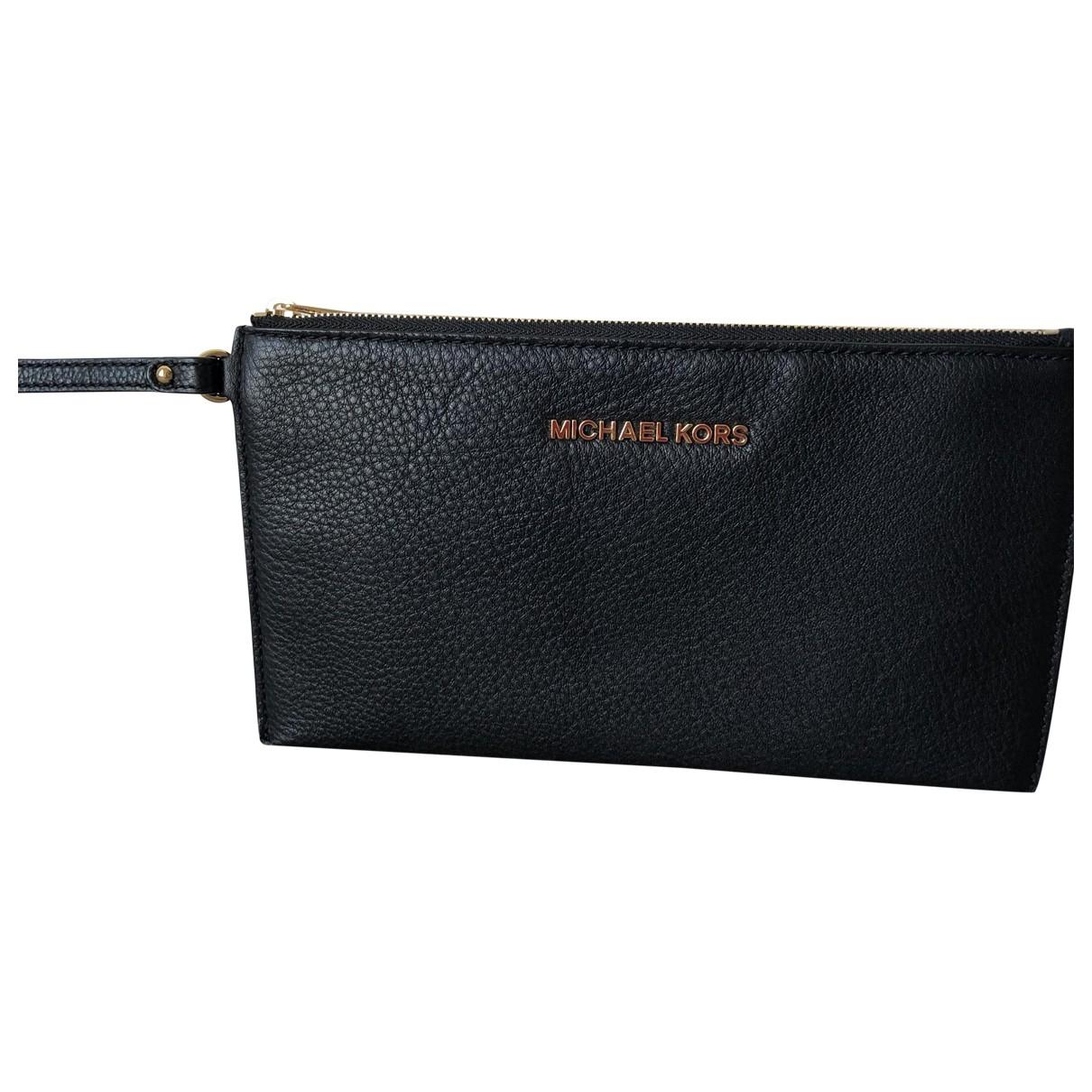 Michael Kors - Pochette   pour femme en cuir - noir