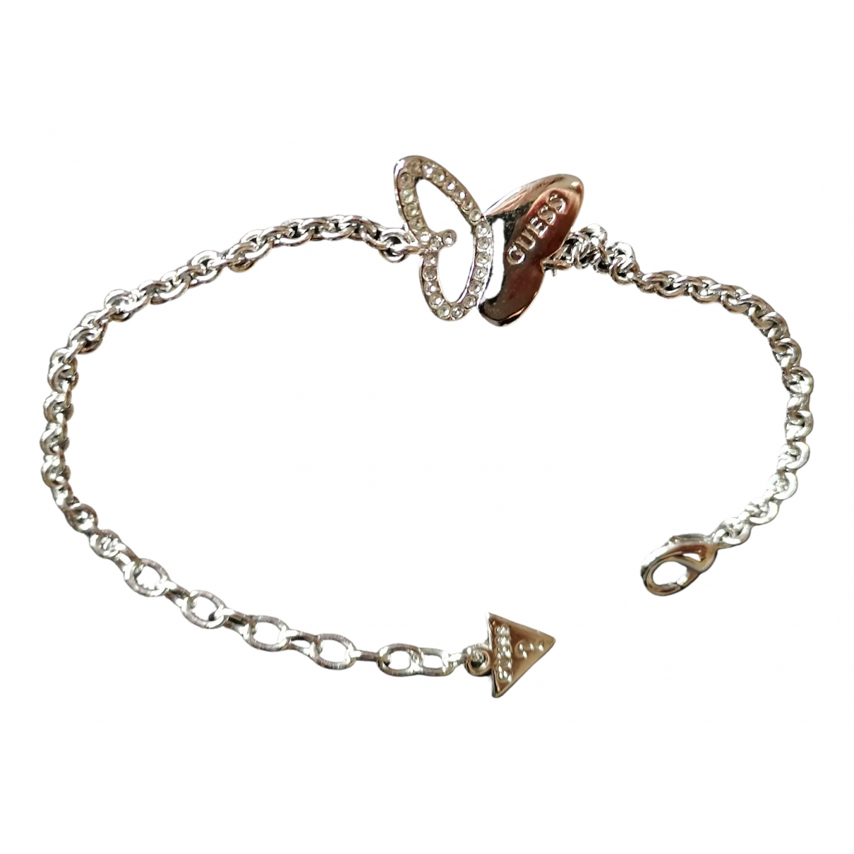 Guess \N Armband in  Silber Stahl