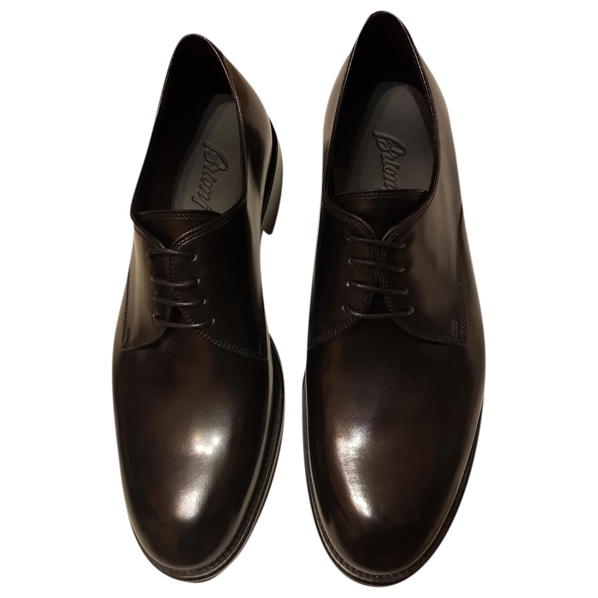 Brioni - Derbies   pour homme en cuir - noir