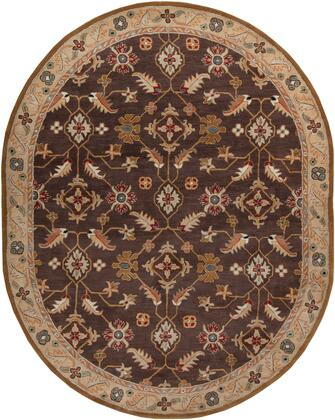Caesar CAE-1083 8' x 10' Oval Traditional Rug in