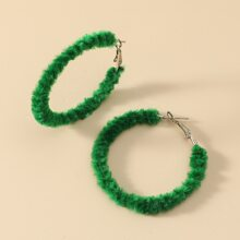 Christmas Fluffy Hoop Earrings