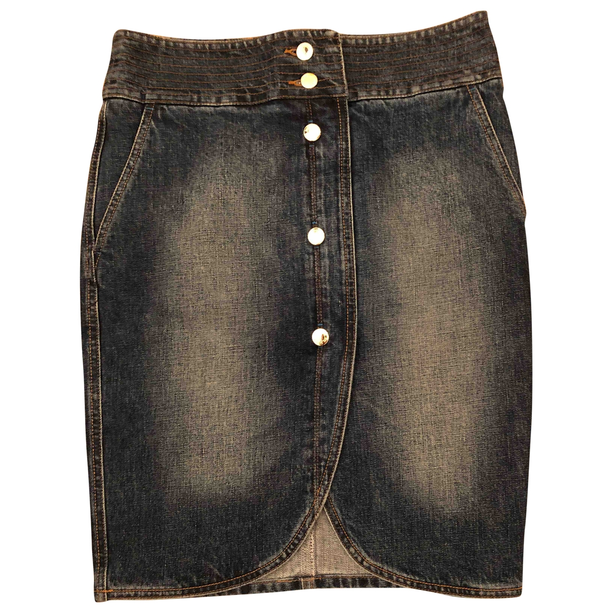 Yves Saint Laurent \N Rocke in  Marine Denim - Jeans