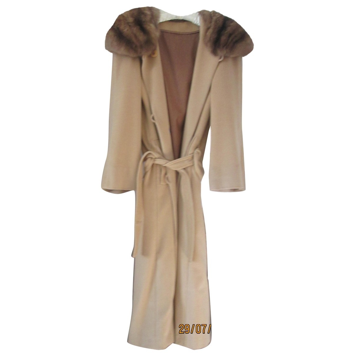 - Manteau   pour femme en cachemire - beige