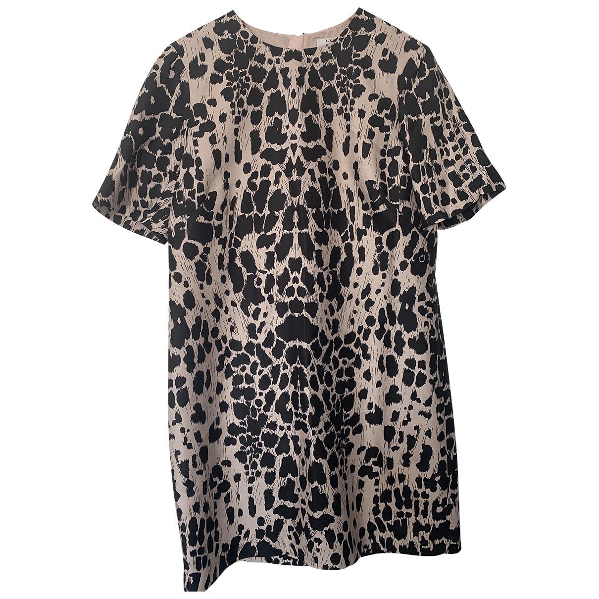 Lk Bennett \N Kleid in  Schwarz Baumwolle