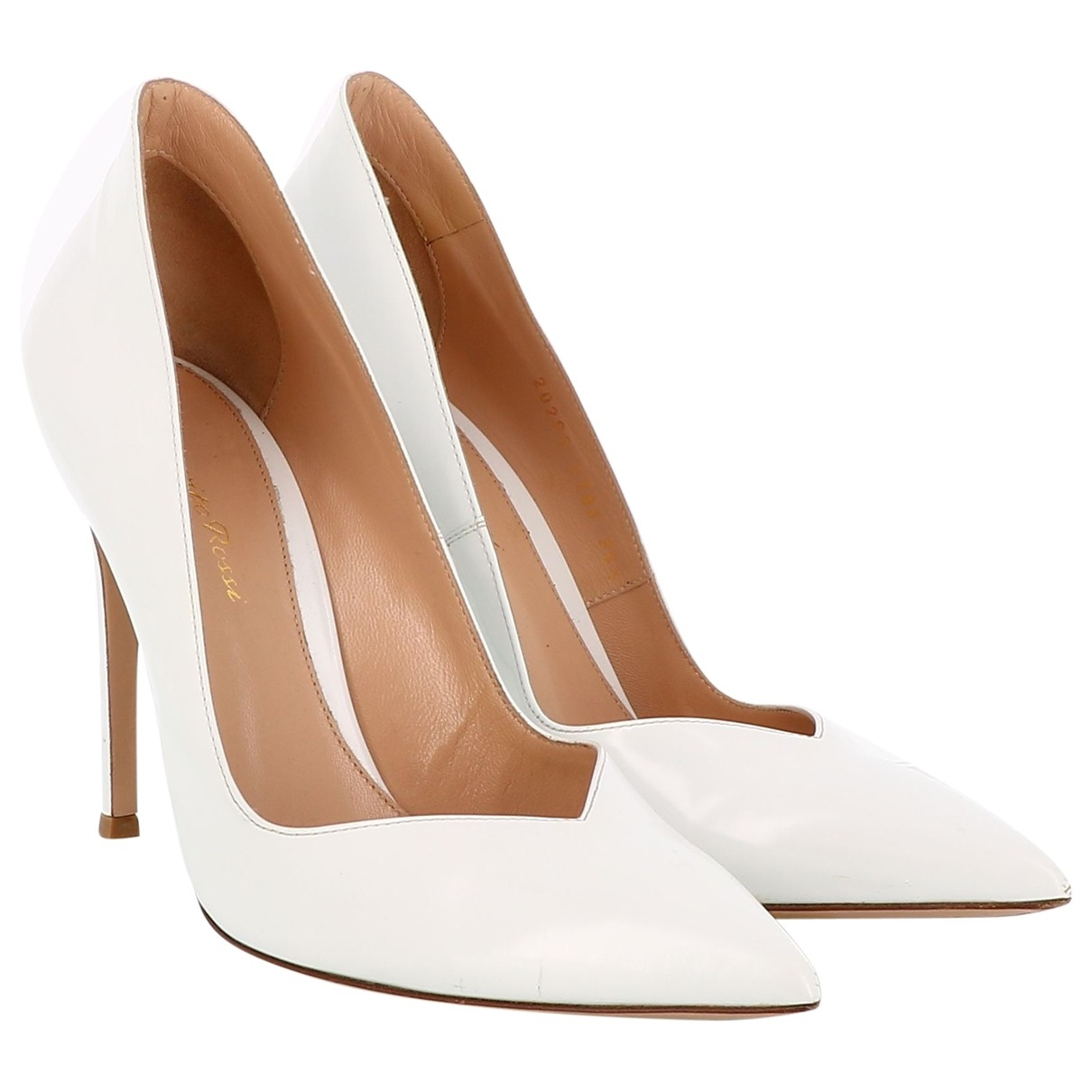 Gianvito Rossi \N White Leather Heels for Women 38.5 EU
