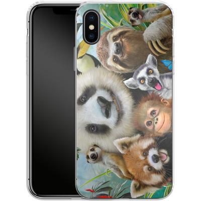 Apple iPhone X Silikon Handyhuelle - Zoo Selfie von Howard Robinson