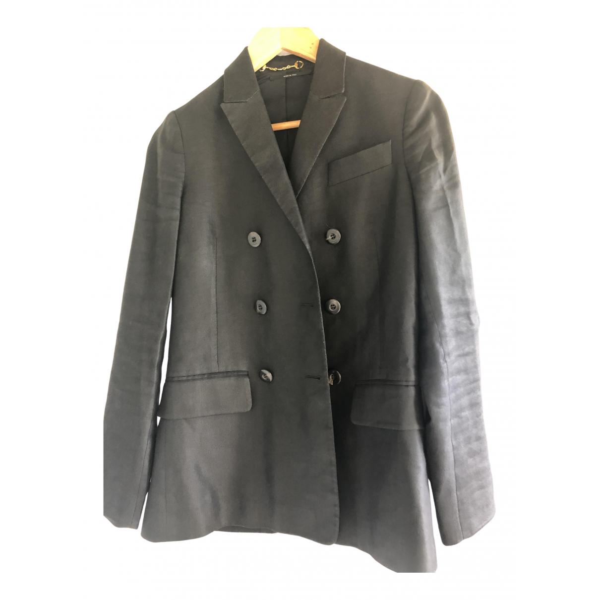 Gucci - Veste   pour femme en lin - noir