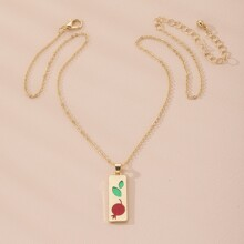 Maedchen Halskette mit geometrischem Anhaenger