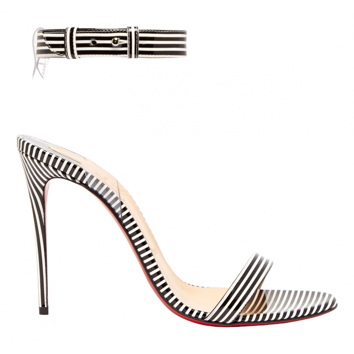 Christian Louboutin \N Multicolour Patent leather Sandals for Women 38.5 EU