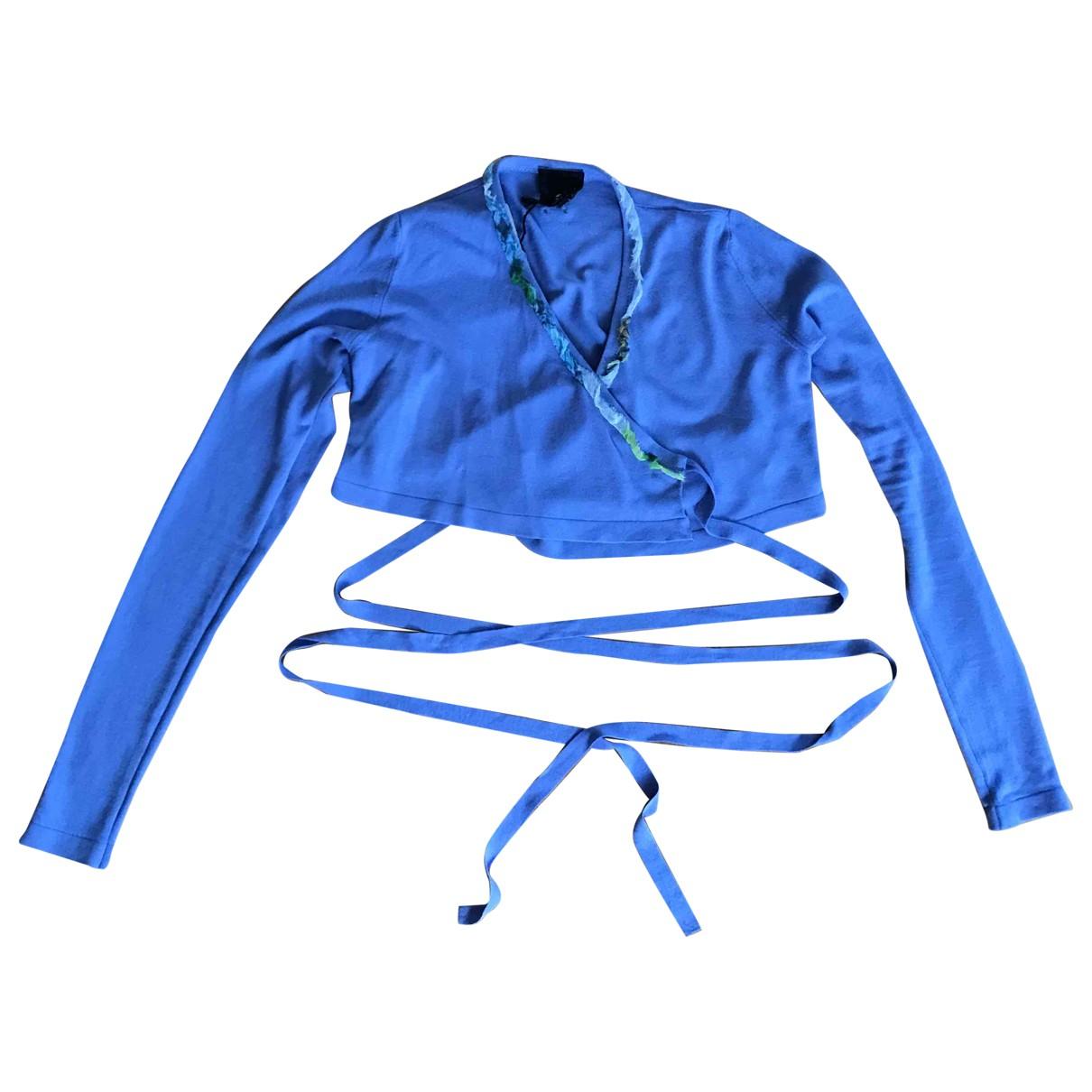 Just Cavalli - Pull   pour femme en coton - bleu