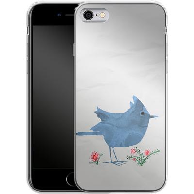 Apple iPhone 6s Silikon Handyhuelle - Watercolour Bird White von caseable Designs