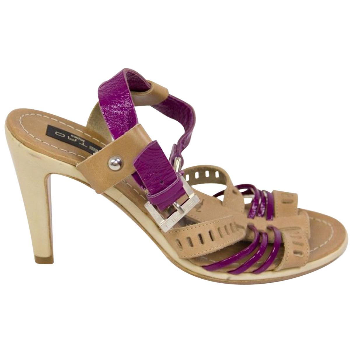 Etro \N Sandalen in  Beige Leder