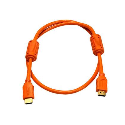 Câble HDMI® 28AWG haute vitesse avec noyaux de ferrite - (4 couleurs disponibles) – 3pi - 3Ft, Orange