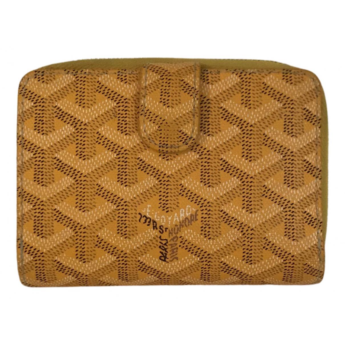 Goyard - Portefeuille   pour femme en toile - jaune