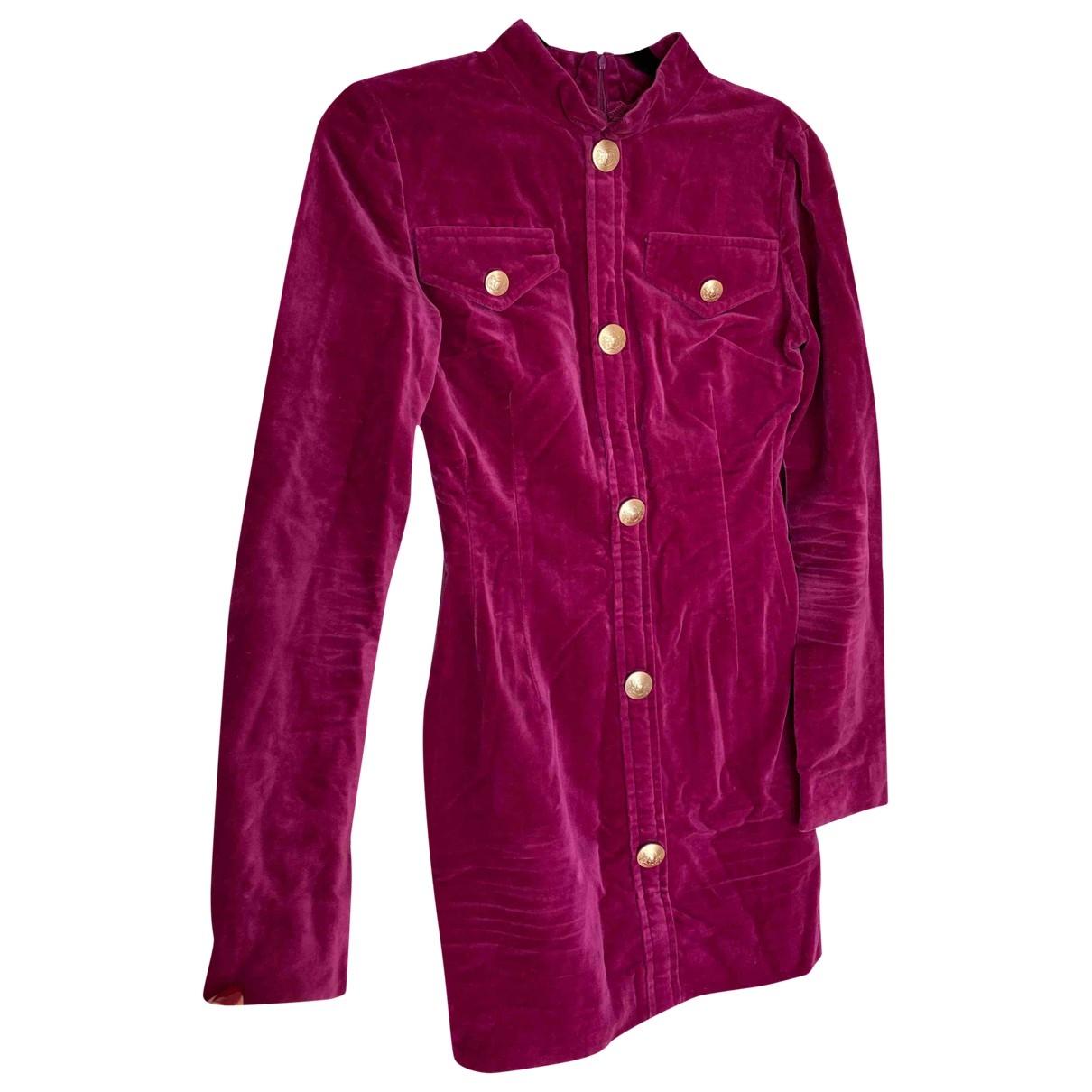 Non Signé / Unsigned \N Purple Velvet dress for Women XS International