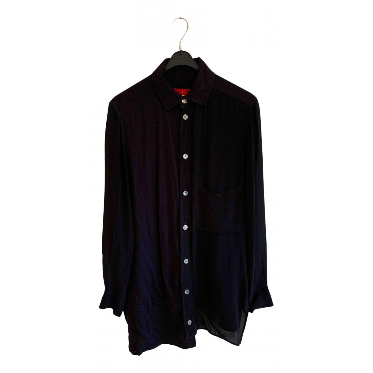 Ys - Top   pour femme en coton - noir