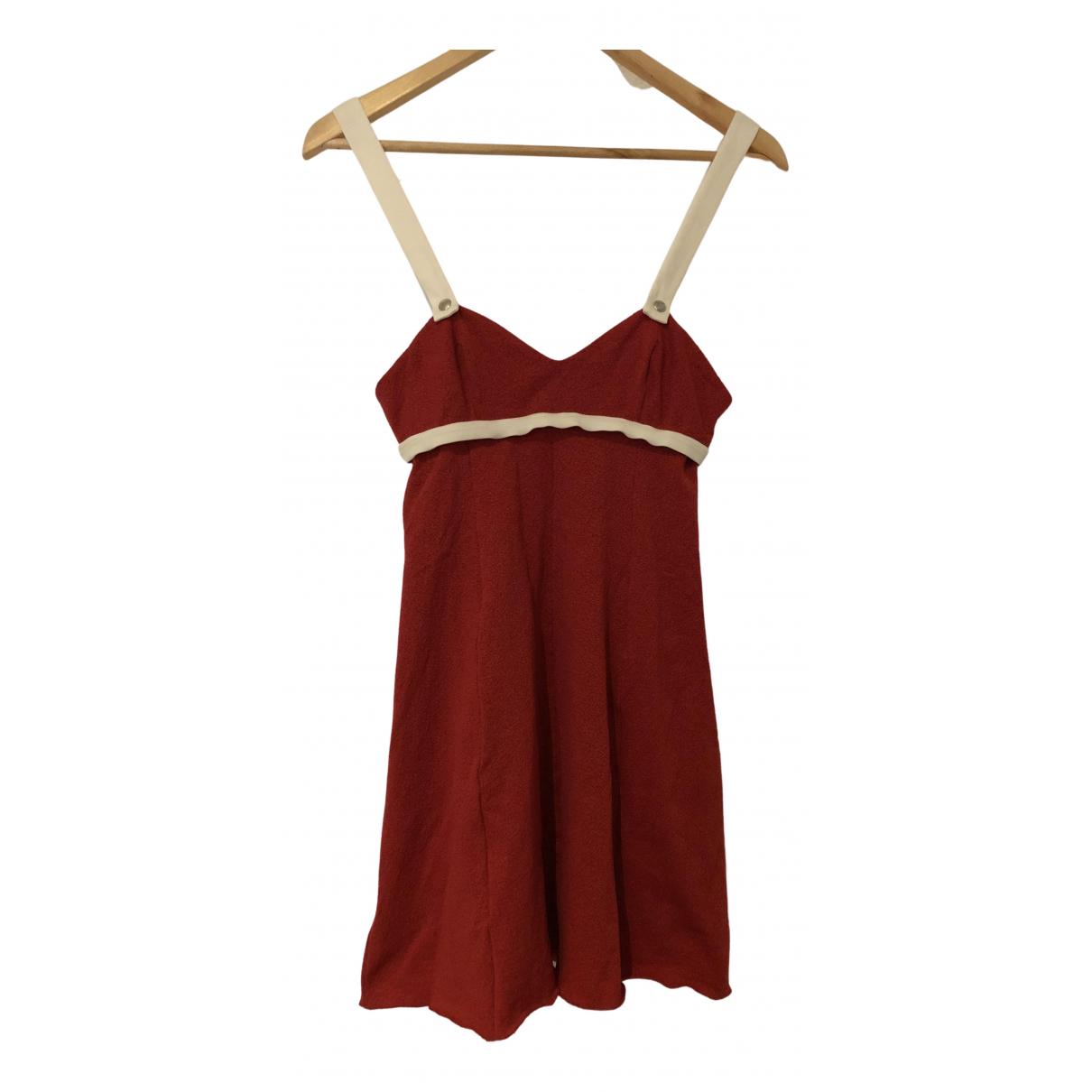 John Galliano \N Kleid in  Rot Viskose