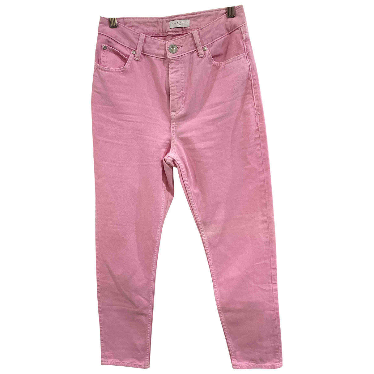 Sandro N Pink Cotton Jeans for Women 36 FR
