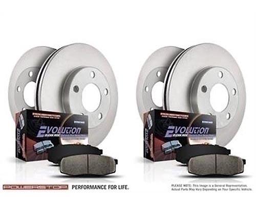 Power Stop KOE2804 Autospecialty Daily Driver Brake Kits Front & Rear KOE2804