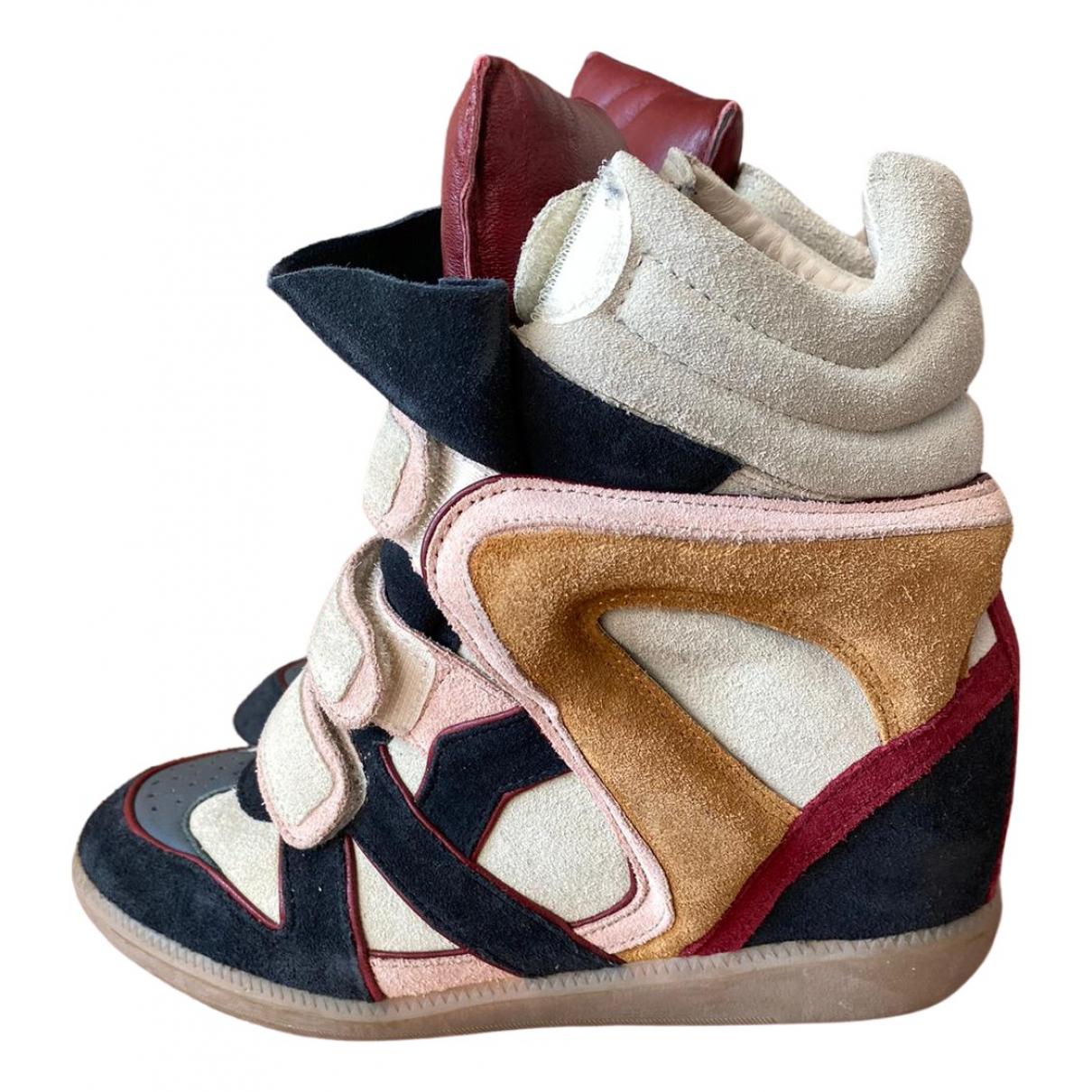 Isabel Marant Willow Sneakers in  Blau Veloursleder