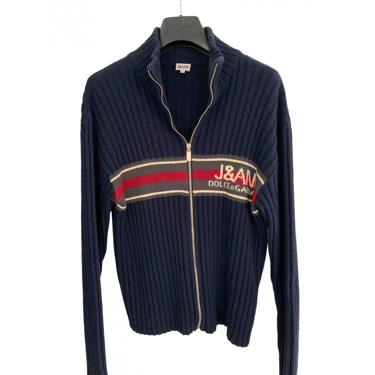 D&g \N Pullover.Westen.Sweatshirts  in  Marine Wolle