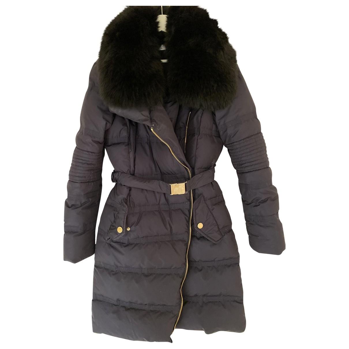 Versace - Manteau   pour femme en fourrure - bleu