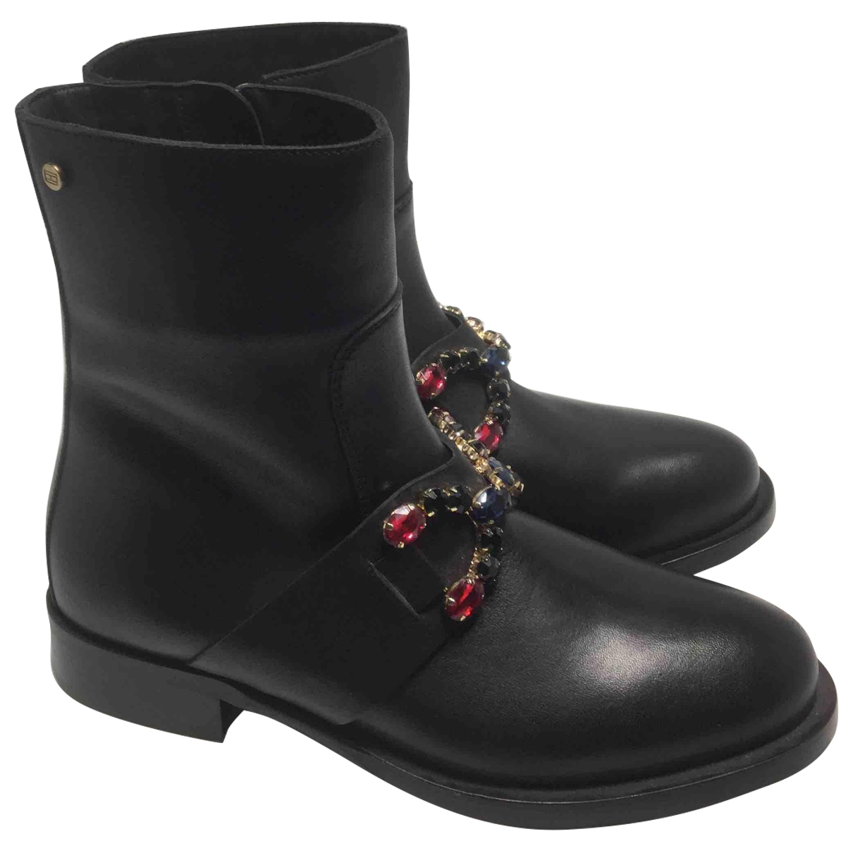 Tommy Hilfiger \N Black Leather Ankle boots for Women 37 EU